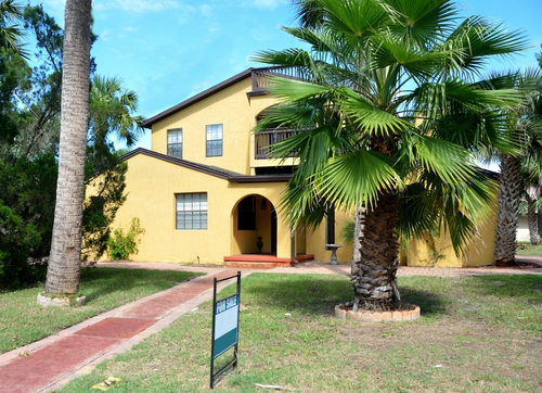 Yellow Home for Sale