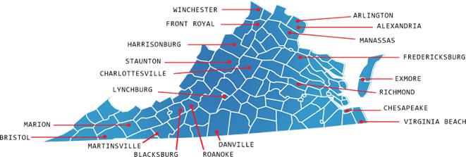 va Map